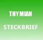 Thymian Steckbrief