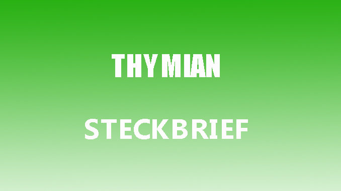 Teaserbild - Thymian Steckbrief